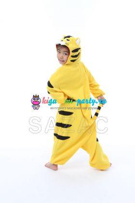 Кигуруми для детей весёлый жёлтый Тигрёнок (вполоборота)