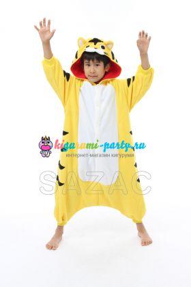 Кигуруми детский жёлтый Тигрёнок