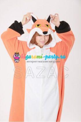 Кигуруми красная Лиса / Kigurumi red Fox (большое лицо)