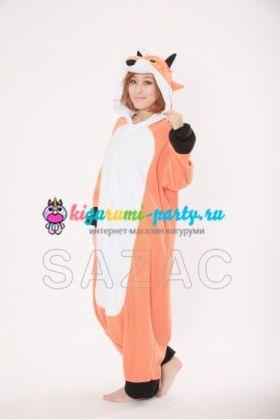 Кигуруми красная Лиса / Kigurumi red Fox (вполоборота)