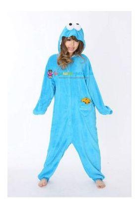 Кигуруми Коржик (Куки монстр, печеньковый монстр) по Улица Сезам / Kigurumi Cookie Monster on Sesame Street