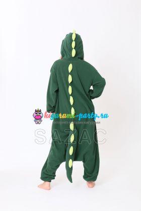 Кигуруми Динозавр зелёный (сзади)