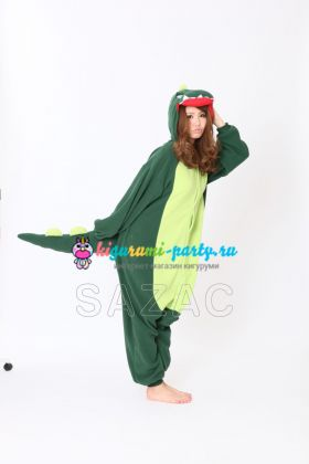 Кигуруми Динозавр зелёный (вполоборота)
