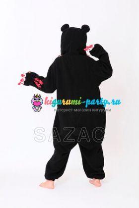 Кигуруми Мрачный Медведь чёрный / Kigurumi Gloomy Bear black (сзади)