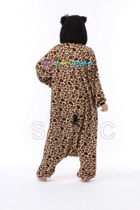 Кигуруми Хелло Китти Леопард коричневый новый (сзади)