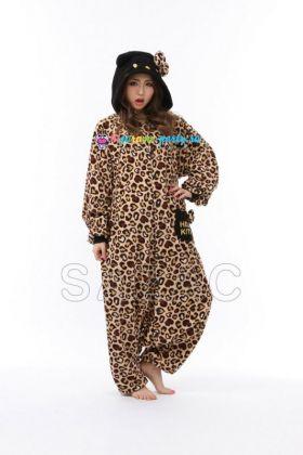 Кигуруми Хелло Китти Леопард коричневый новый (анфас)