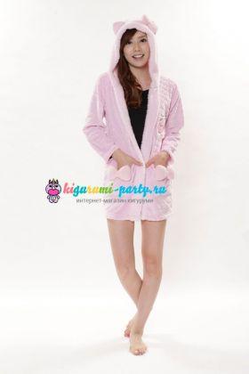 Кигуруми халат Hello Kitty розовый