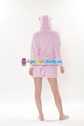 Кигуруми халат Hello Kitty розовый (сзади)