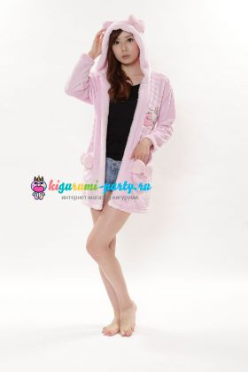 Кигуруми халат Hello Kitty розовый (профиль)