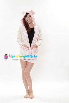 Кигуруми халат Хелло Китти белый / Kigurumi Bathrobe Hello Kitty white