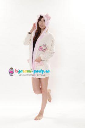 Кигуруми халат Hello Kitty белый (профиль)