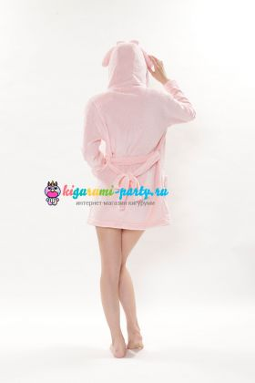 Кигуруми халат Моя Мелодия розовый / Kigurumi Bathrobe My Melody PK (сзади)