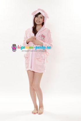 Кигуруми халат Моя Мелодия розовый / Kigurumi Bathrobe My Melody PK (профиль)