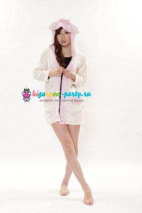 Кигуруми халат Моя Мелодия белый / Kigurumi Bathrobe My Melody WT
