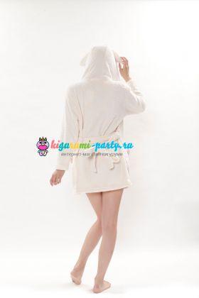 Кигуруми халат Моя Мелодия белый / Kigurumi Bathrobe My Melody WT (сзади)