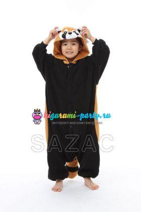 Кигуруми детская красная (огненная) Панда