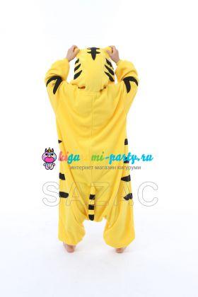 Кигуруми для детей весёлый жёлтый Тигрёнок (сзади)