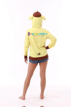 Кигуруми толстовка с капюшоном Помпомпурин золотистый ретривер / Kigurumi hooded sweatshirt Pompompurin (сзади)