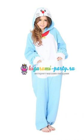 Кигуруми Дораэмон по манге Дораэмон / англ. Kigurumi Doraemon based on the manga Doraemon (анфас)