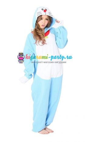 Кигуруми Дораэмон по манге Дораэмон / англ. Kigurumi Doraemon based on the manga Doraemon (вполоборота)