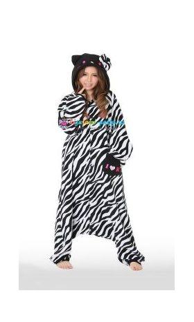 Кигуруми Хелло Китти Зебра чёрная / Kigurumi Hello Kitty zebra black