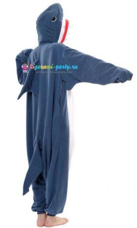 Кигуруми Акула тёмно-синяя (три четверти)