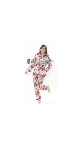 Кигуруми пижама Моя Мелодия Маймеро селфи / Kigurumi pizhama Check My Melody Maimero (вполоборота)