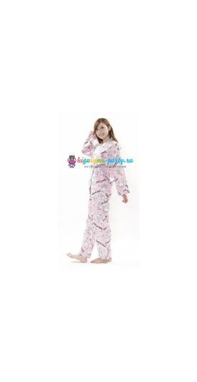 Кигуруми пижама Хелло Китти пушистый хвост (вполоборота)