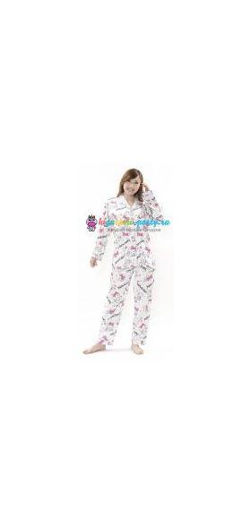 Кигуруми пижама Хелло Китти пушистый хвост (анфас)